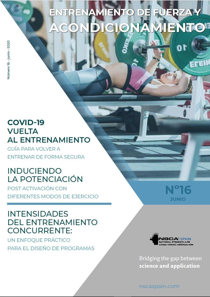 Nº 16 Journal NSCA Spain: Entrenamiento de fuerza y acondicionamiento físico - Junio 2020
